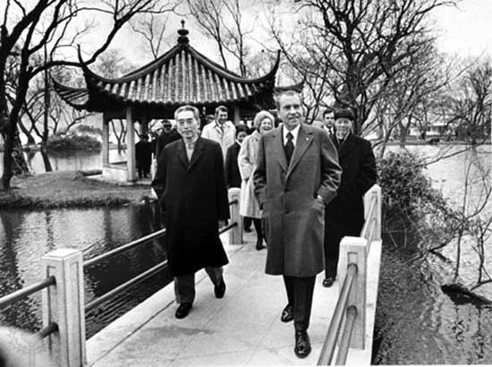Nixon's visit to China initiated official Sion-American relations as we know it