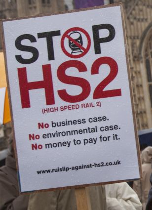 Protests against HS2 flare-up periodically