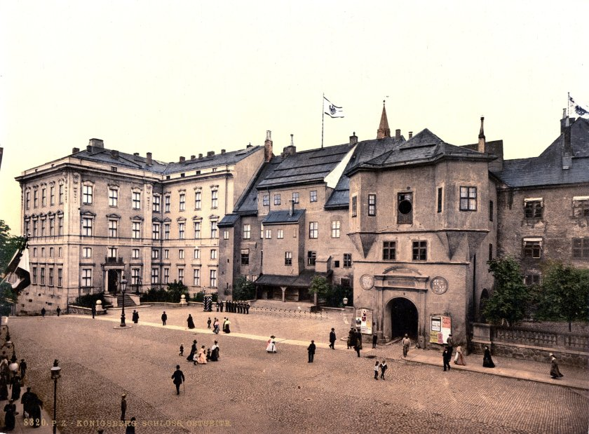 Konigsberg Castle c.1900. The castle stored thousands of books and works of art