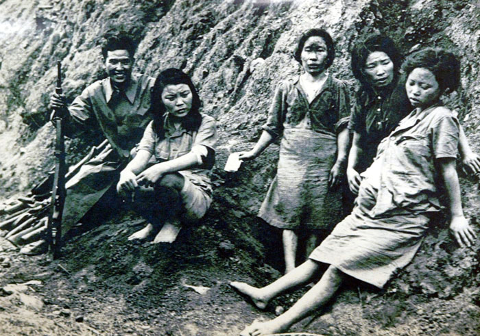 Korean 'comfort women' liberated at the end of WWII